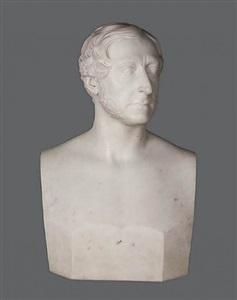bust of a gentleman (portrait of william murphy, jr., [?]) by hiram powers